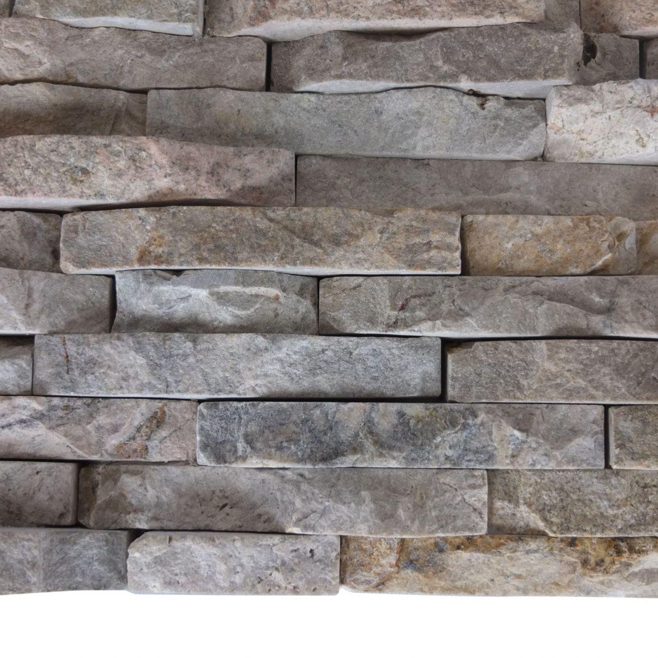 Natural Stone Tile : Split face mini mosaic tile ledge stone beige